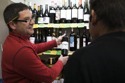 Secció de vins